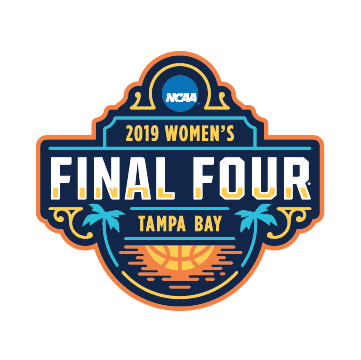NCAA bracket for the 2019 Division I women's basketball tournament