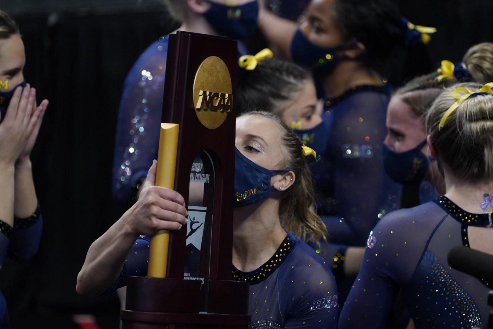 Michigan wins the 2021 NC women's gymnastics national championship