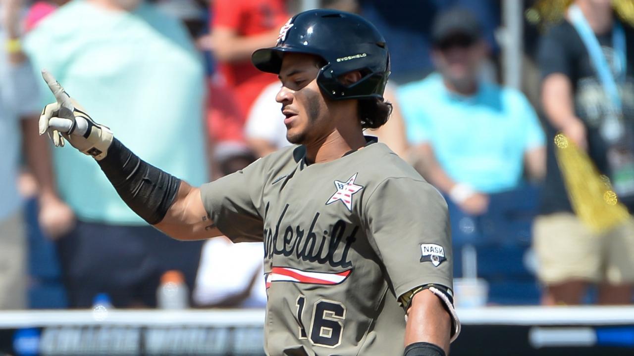 Welcome To Omaha Austin Martin Vanderbilt 3b Goes Deep Twice In College World Series Debut Ncaa Com