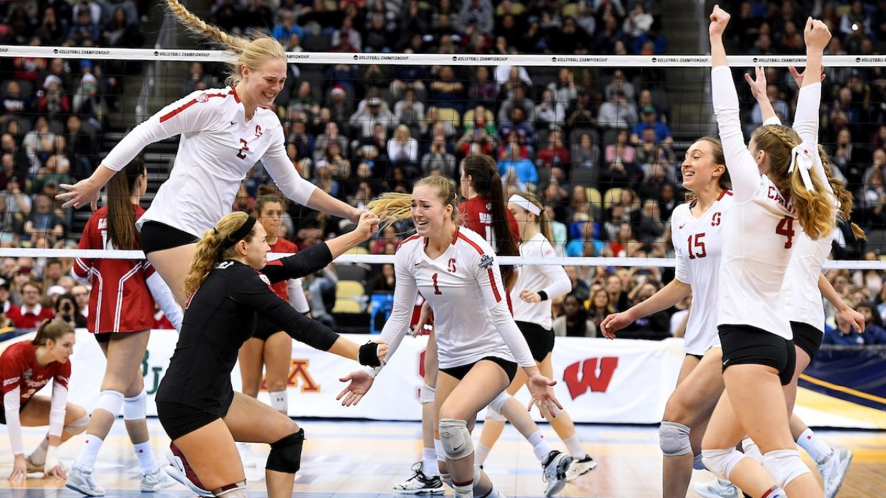 Watch The Moment Stanford Won The 2019 Di Women S Volleyball Championship Ncaa Com