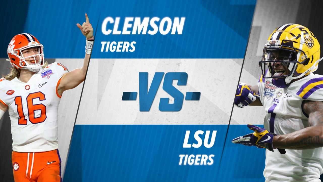 LSU vs. Clemson: Prediction, preview for the College Football Playoff  National Championship Game | NCAA.com