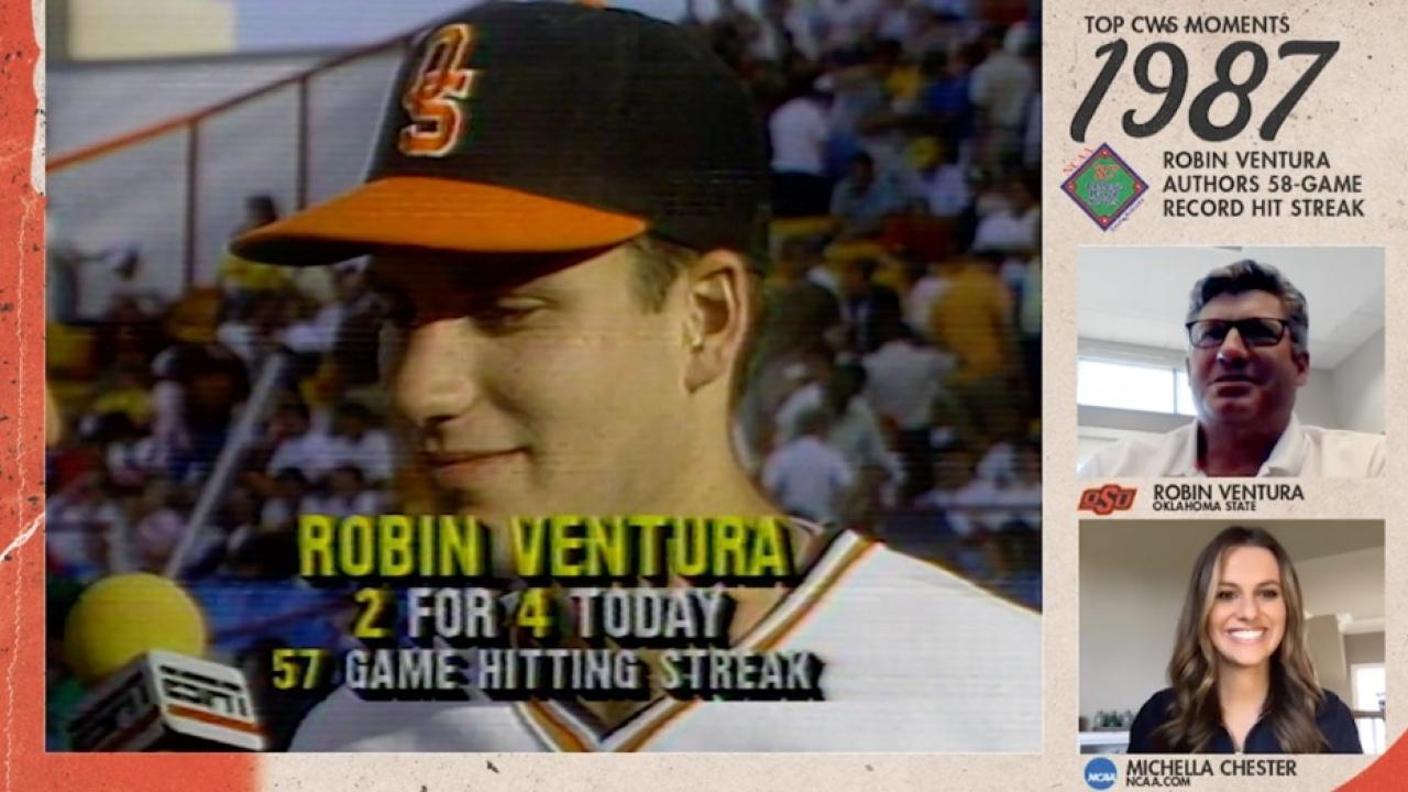 Robin Ventura's 58-game hit streak, explained by Robin Ventura