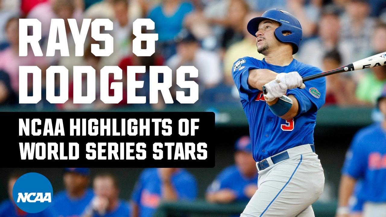2020 MLB World Series stars' college baseball highlights