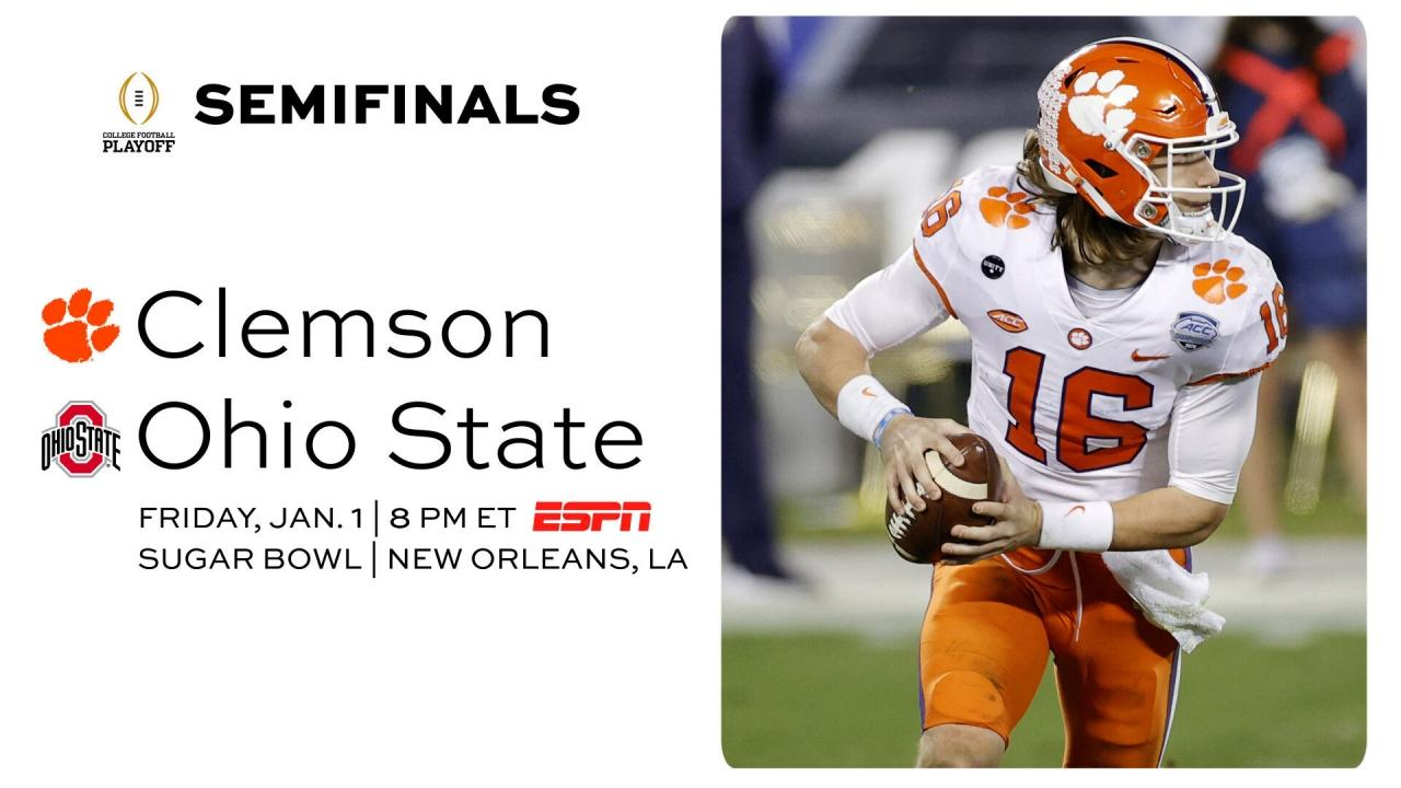 Clemson vs. Ohio State: Date, time, TV channel for College ...