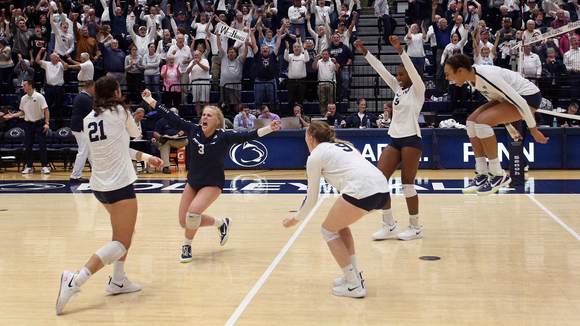 College Volleyball Rankings Penn State Rises With Top Five Win Kansas Ranked After Beating Texas Ncaa Com