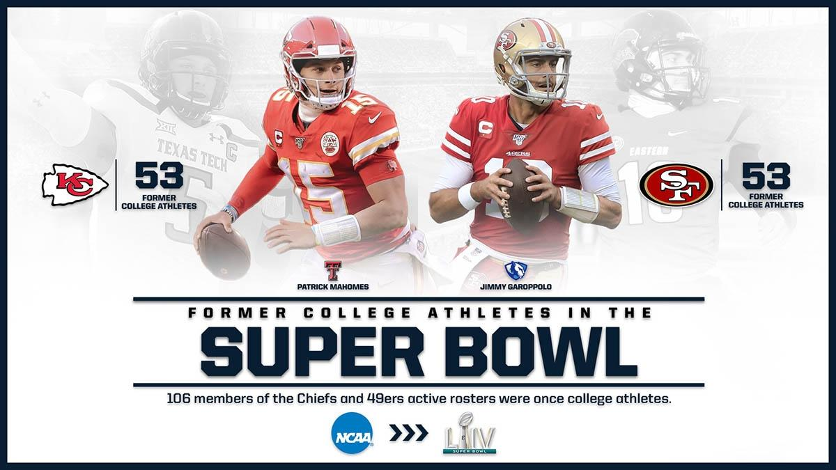 2020 Super Bowl Rosters Colleges Of 49ers And Chiefs Players