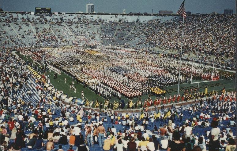 Slippery Rock's 1979 football game at Michigan set a DII football attendance record.