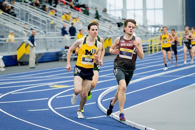 Tom Brady of Michigan track and field