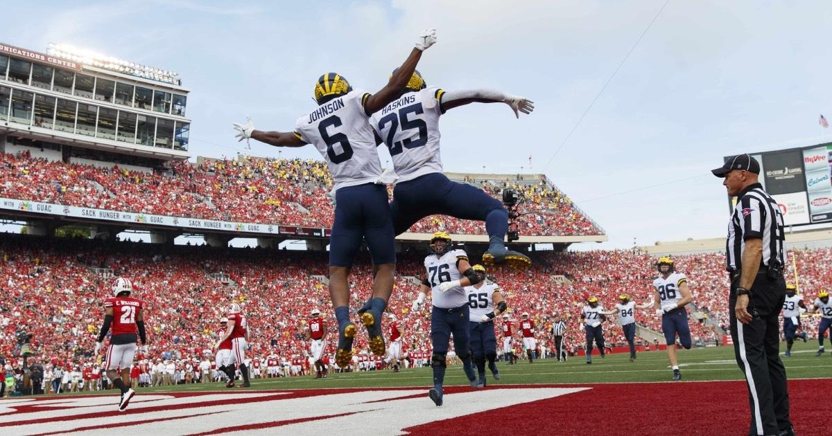 Michigan is 5-0 after a road win at Wisconsin.