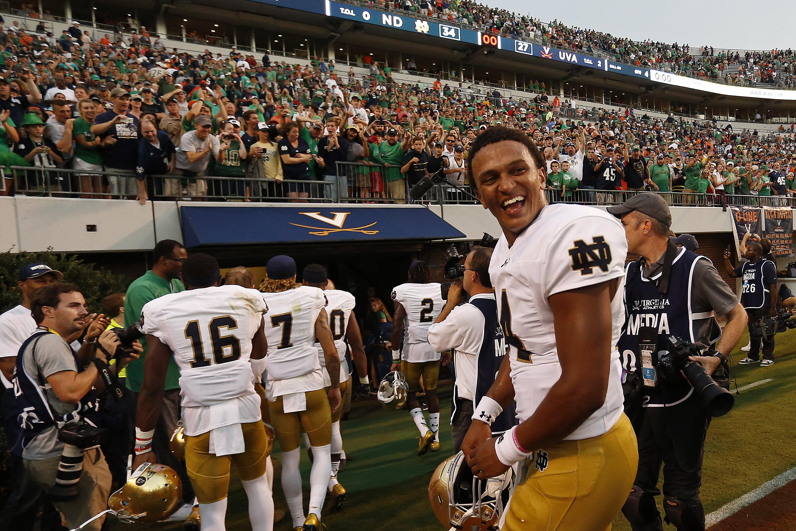 Notre Dame Football Brian Kelly Coached Qbs Have Fared Well In 1st Starts Ncaa Com
