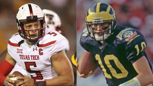 Tom Brady and Patrick Mahomes' college careers, compared (as best we can)