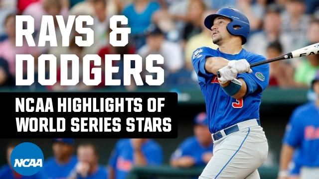 2020 MLB World Series stars' college baseball highlights