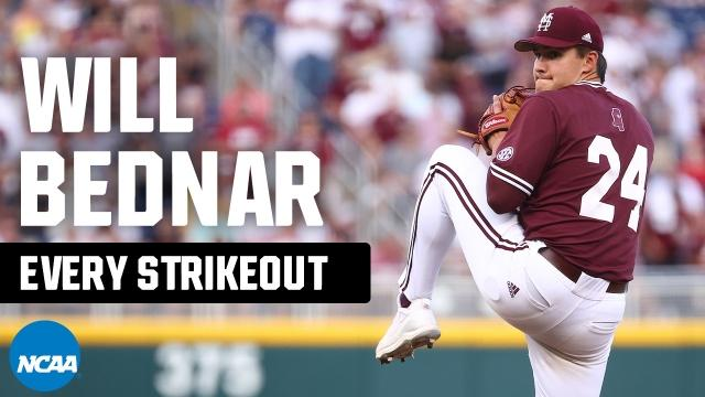 All 38 Will Bednar strikeouts from 2021 NCAA baseball tournament
