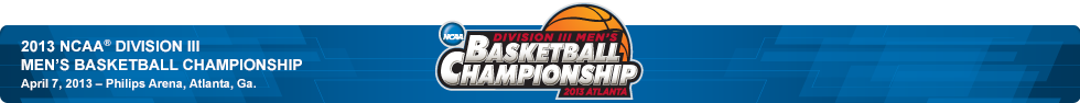 2013 Division III Men's Basketball Bracket