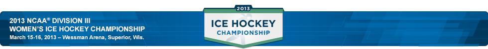 2013 Division III Women's Ice Hockey Bracket