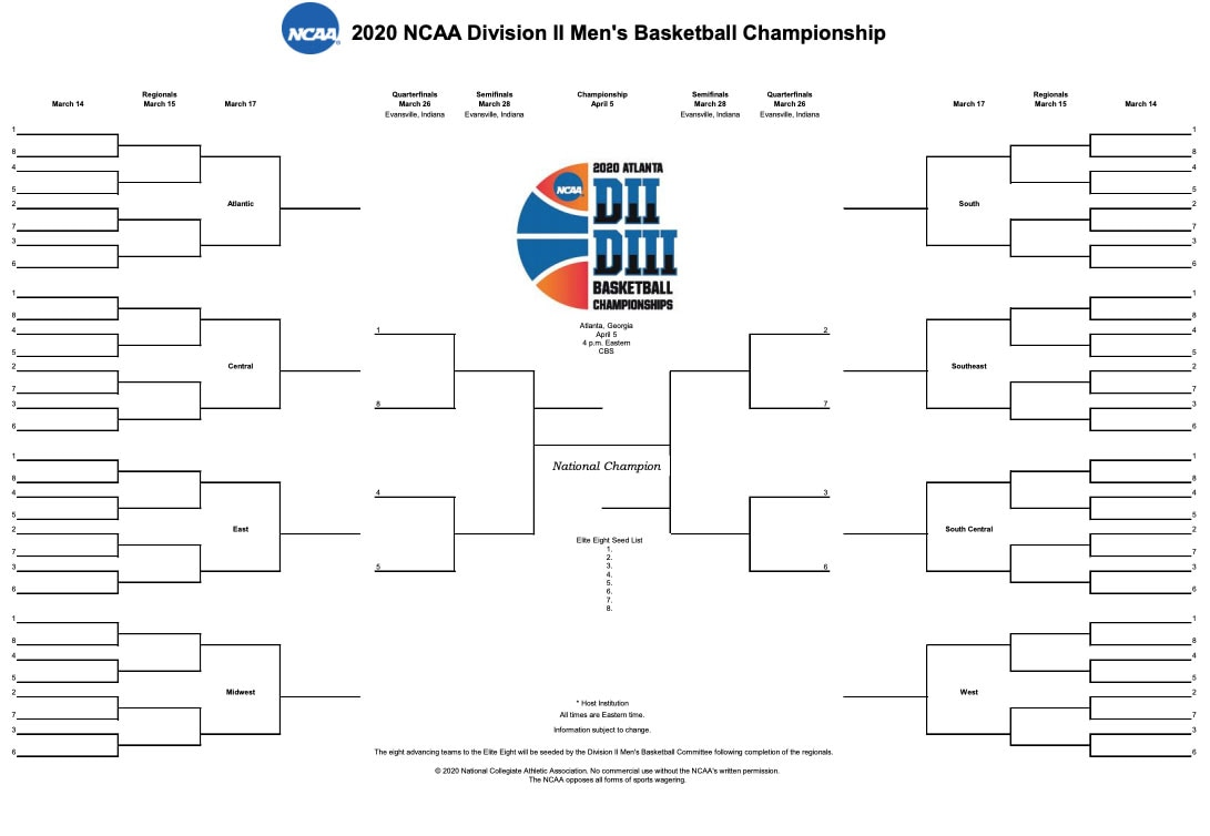 It is a picture of Monster Printable Ncaa Bracket 2020