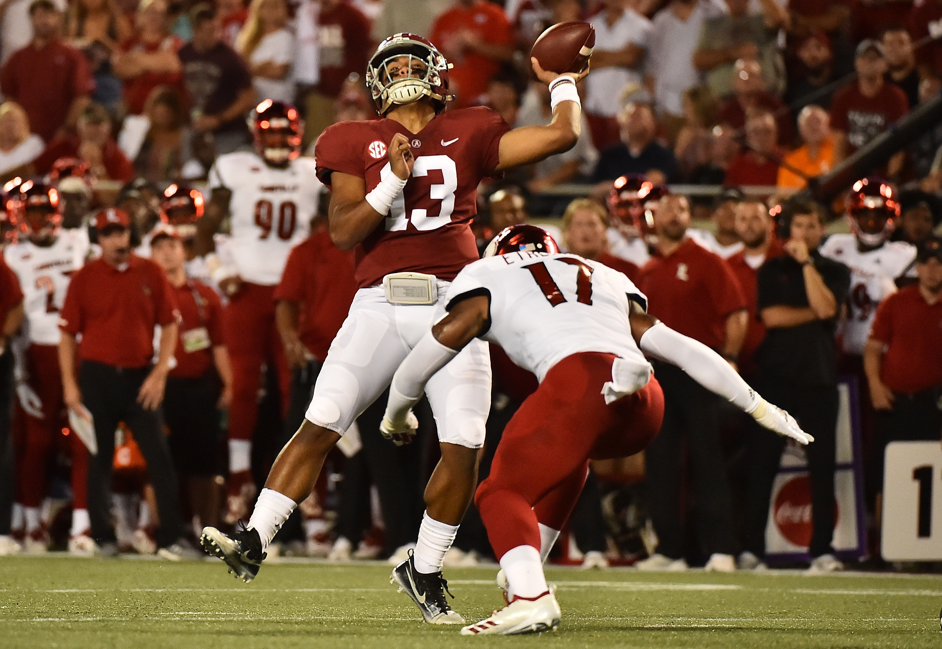 5fe32641015 Tua Tagovailoa starts at QB for Alabama, throws circus touchdown pass on  opening drive | NCAA.com