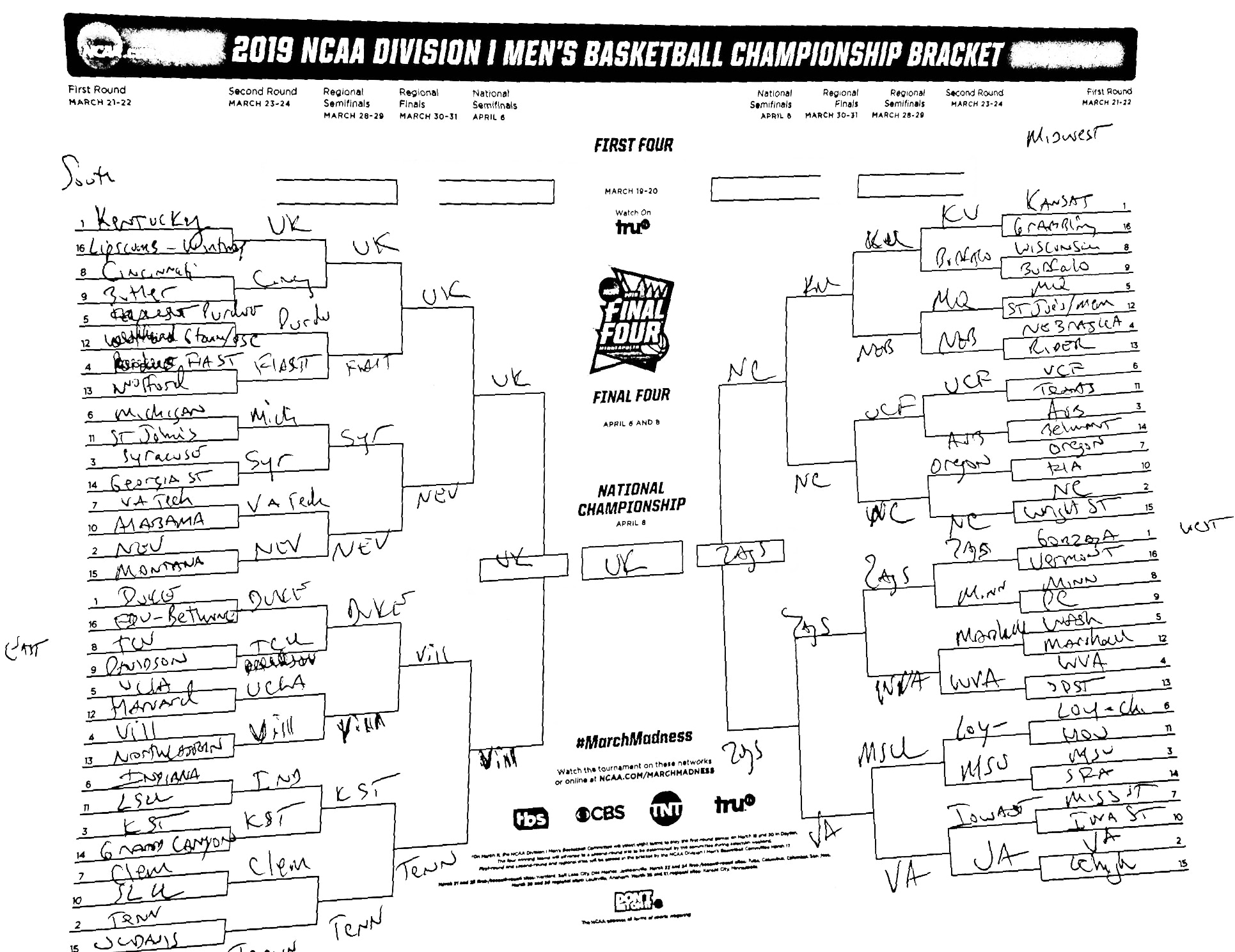 Andy Katz Filled Out A Preseason Ncaa Tournament Bracket Let S