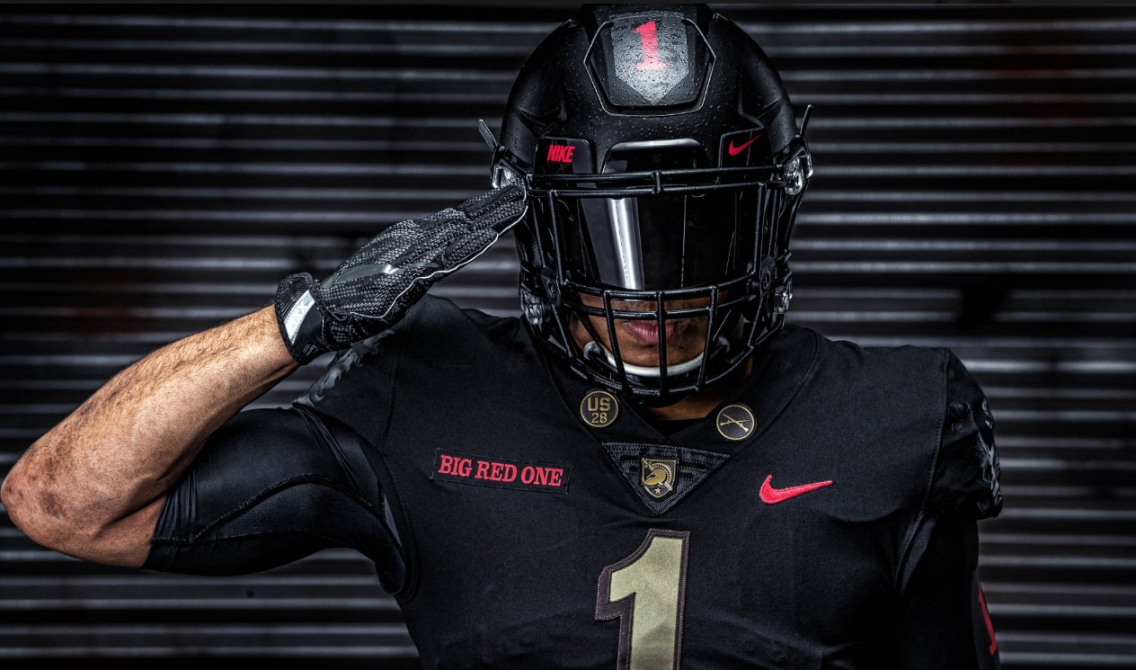 6aa58efd1 Army-Navy game  Army football to honor WWI 1st Infantry Division with new  all-black uniforms