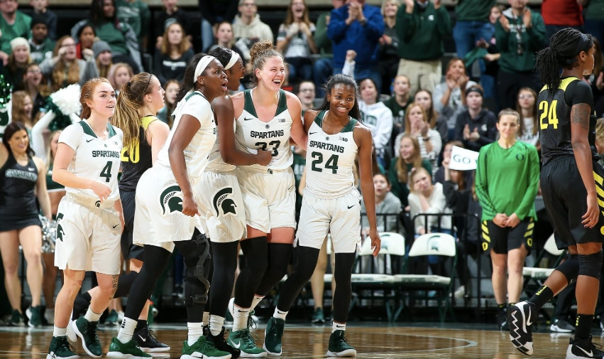3359ae32fdbb Women s college basketball rankings  Michigan State enters Top 25 after  beating No. 3 Oregon