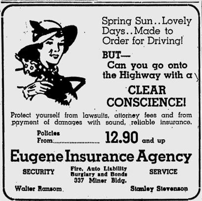 Insurance ad 1939