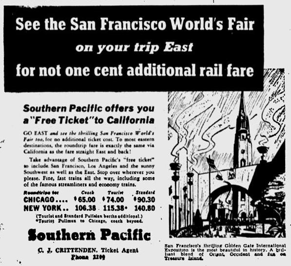 Train ad 1939