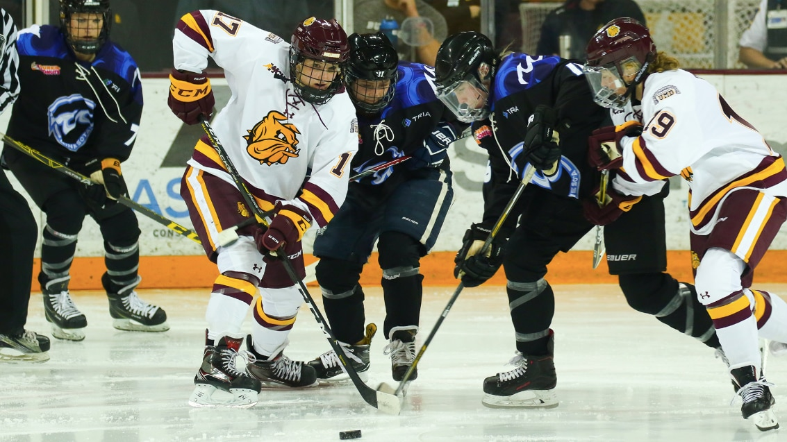 Minnesota Duluth hosts the Minnesota Whitecaps in exhibition game.