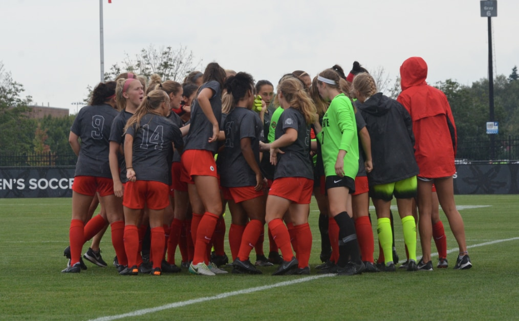 Ohio State women's soccer defeats No. 21 Northwestern.