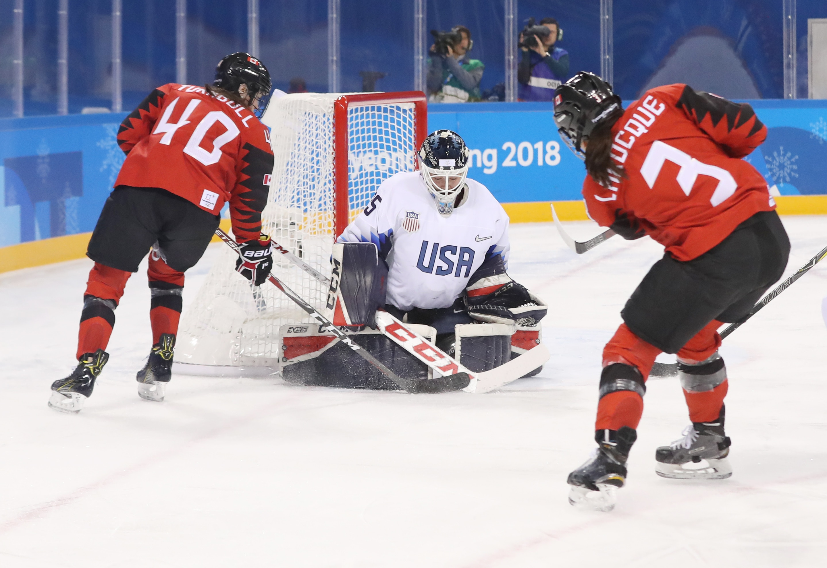 Maddie Rooney represented the USA in the 2018 Olympics.