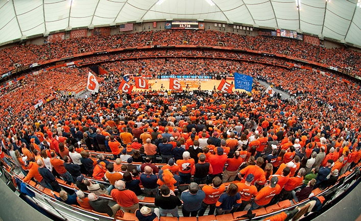 The Carrier Dome is the largest in college basketball.