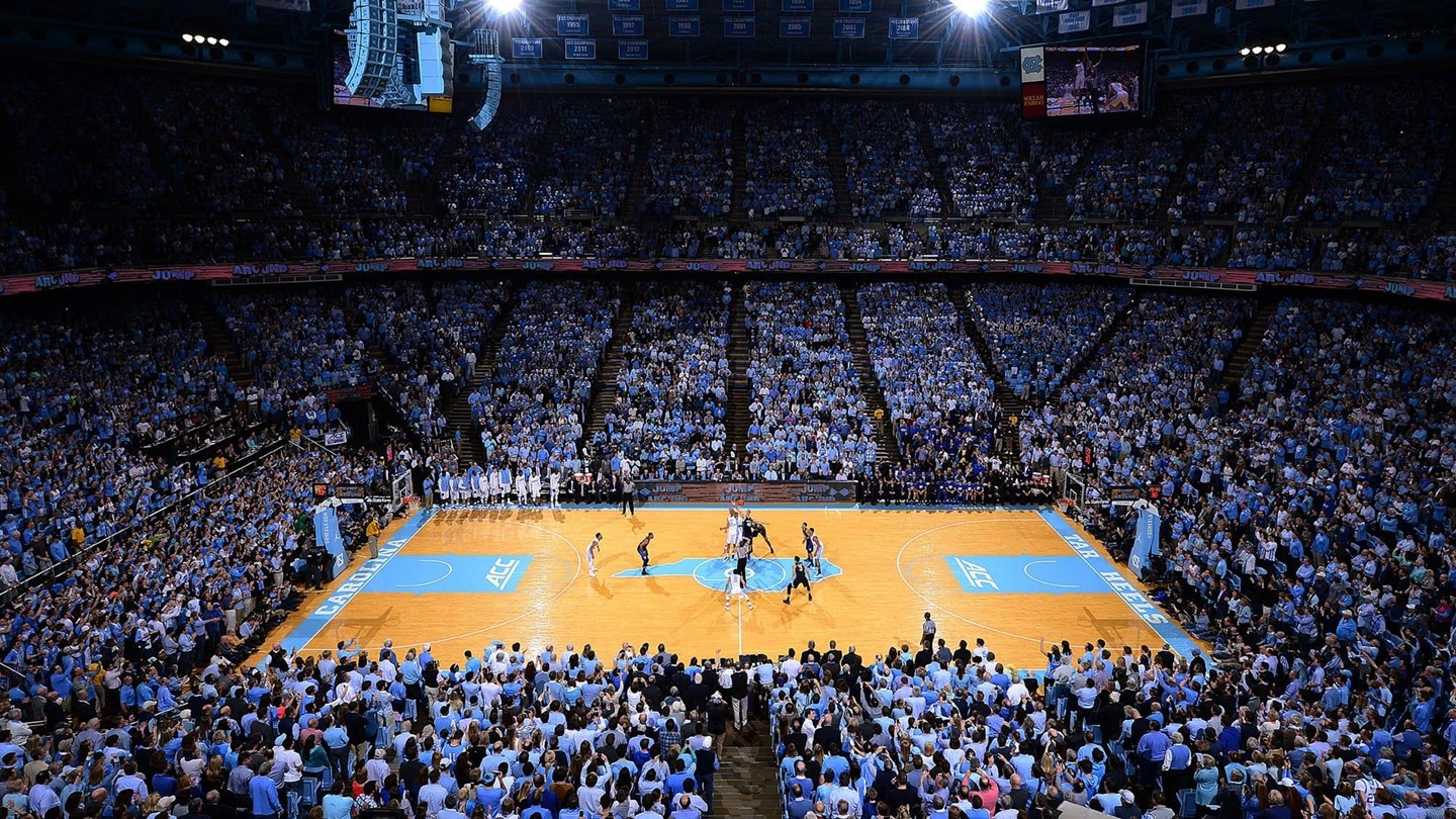 Dean Smith Center is home to the Tar Heels.