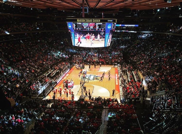 MSG host NCAAt games in addition to St. John's home games.