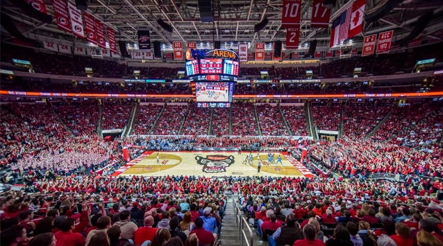 PNC Arena is home of the Wolfpack.