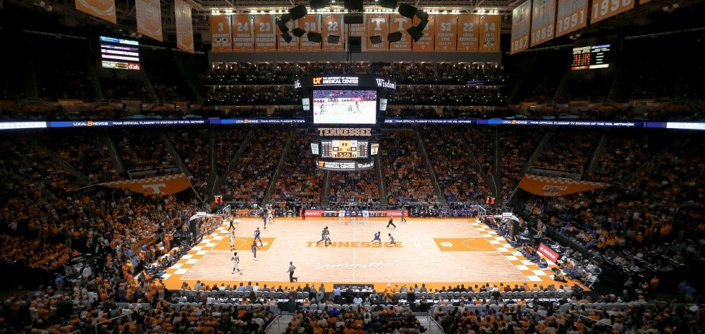Thompson-Boling Arena has recently been redone.