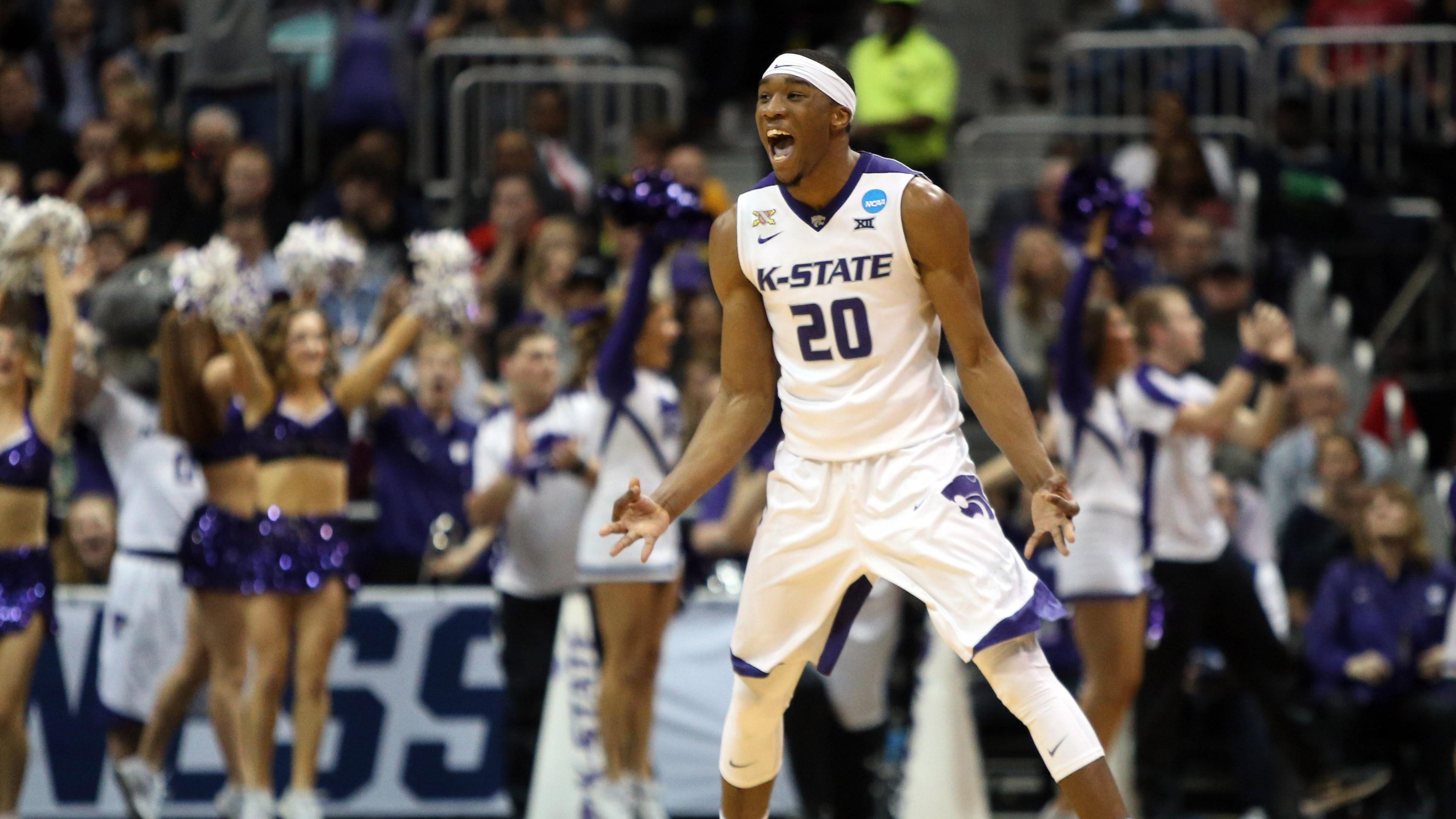 Kansas State's Xavier Sneed celebrates
