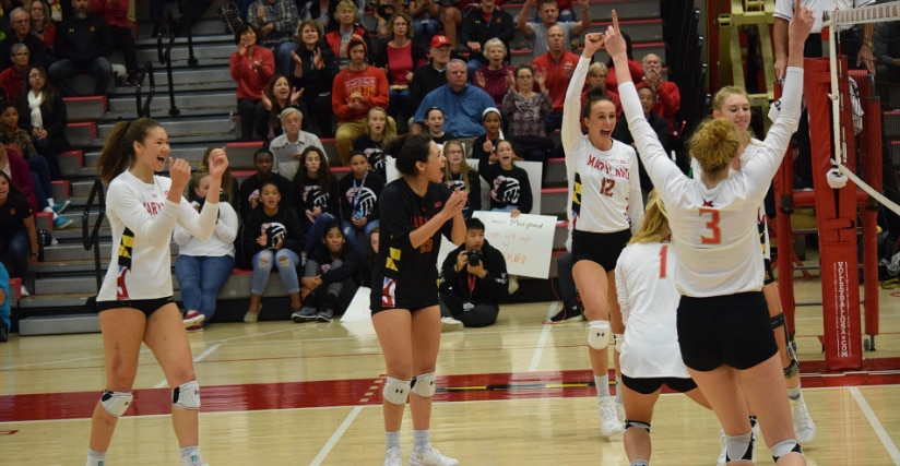 Maryland upsets Michigan volleyball