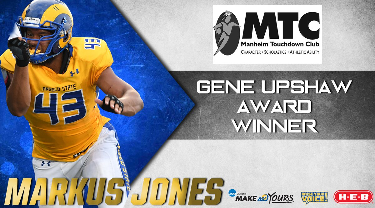 Markus Jones wins the 2018 Gene Upshaw Award for DII football best lineman.