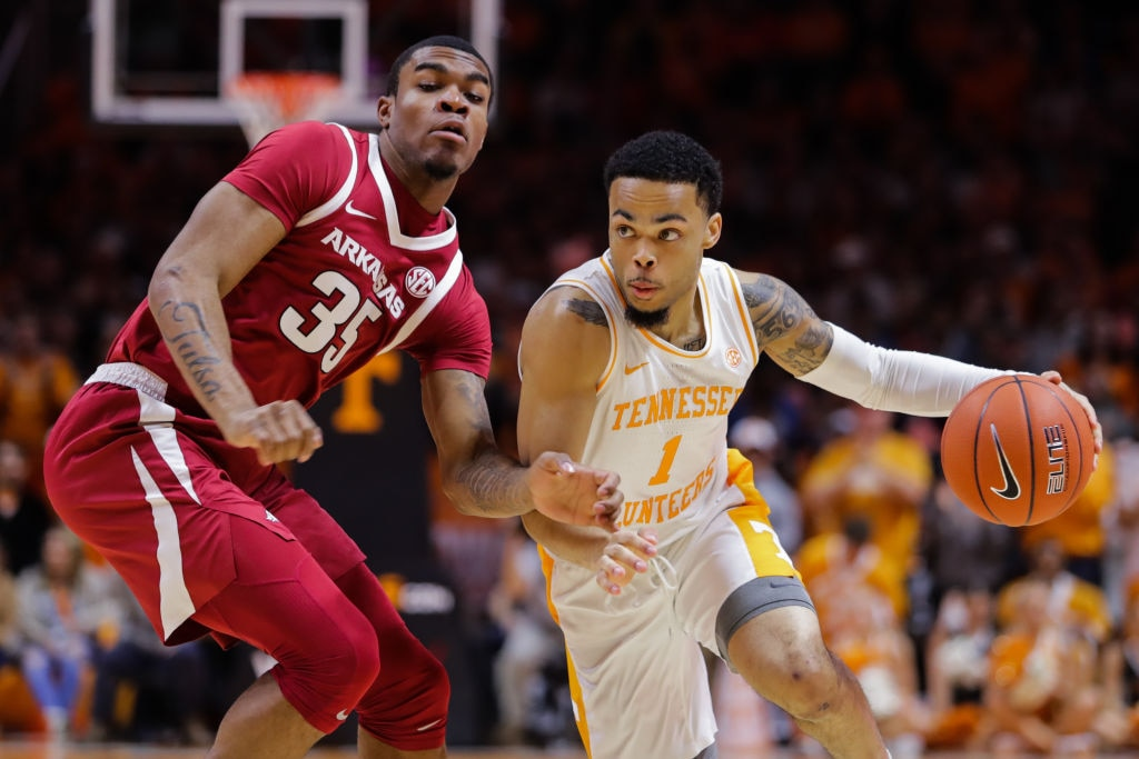 College Basketball Rankings Tennessee Takes Over No 1 Michigan
