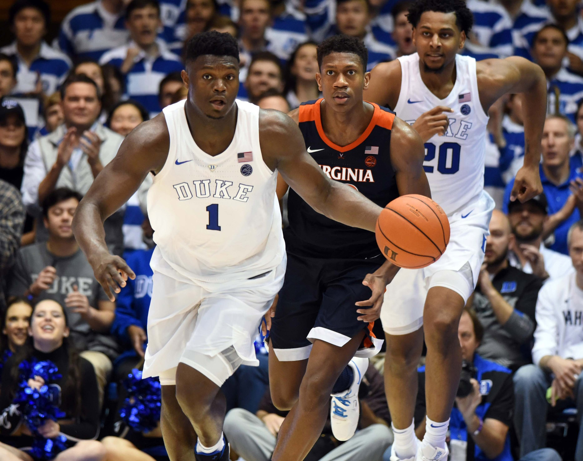 707c99c6120 Duke beats Virginia 81-71 with lights-out shooting to complete season sweep  of Cavaliers