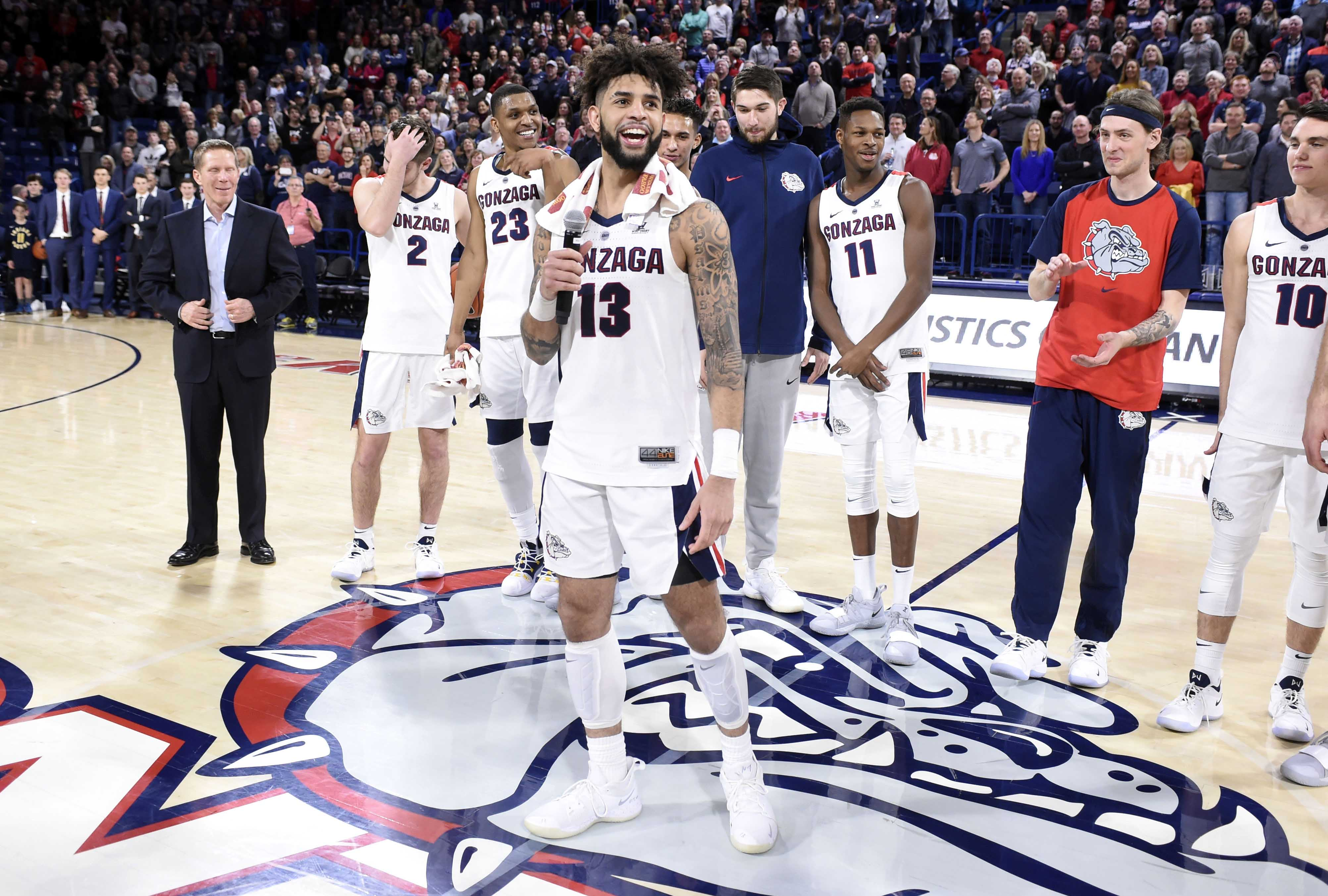 College Basketball Rankings Gonzaga Leads Andy Katz S New