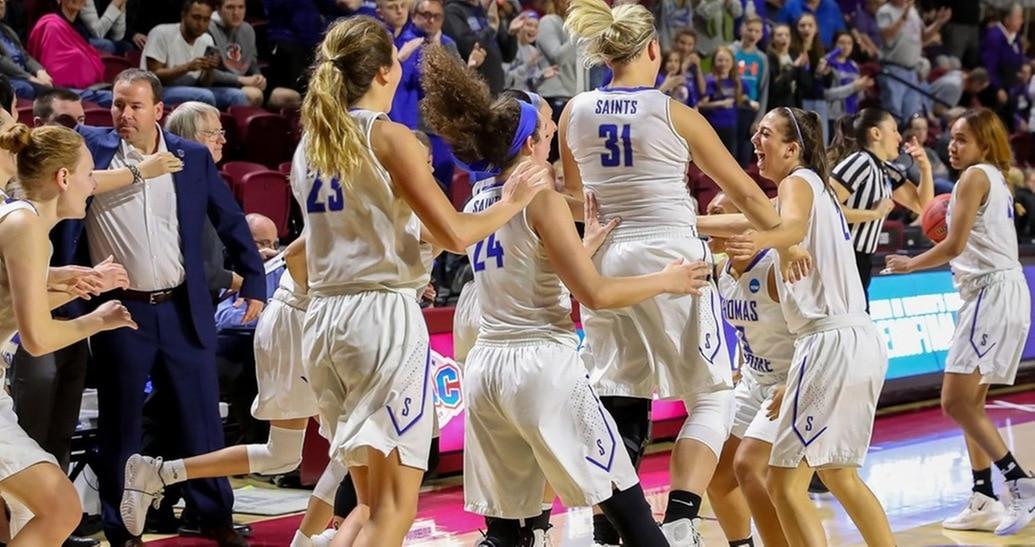 e21ff1af46bac5 DIII women's basketball: Thomas More beats Bowdoin, completes perfect  season with national title | NCAA.com