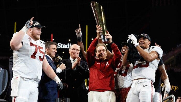 Nick Saban and Alabama beat Georgia to win the 2018 CFP title.