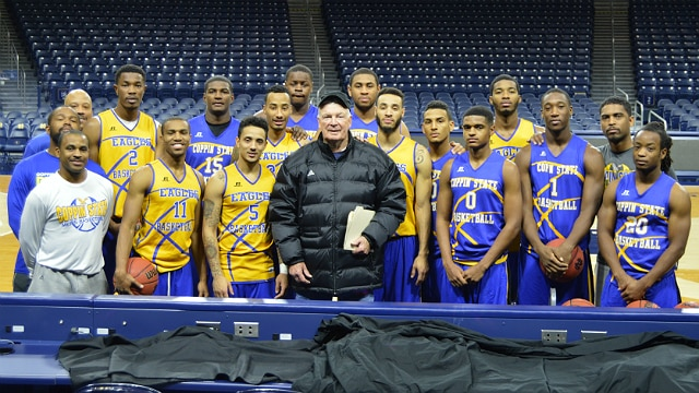 Digger Phelps with Coppin State basketball team