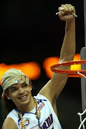 Joakim Noah celebrates Florida's 2007 national championship.