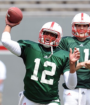 Jacoby Brissett threw for 365 yards in the spring game.