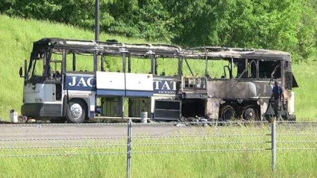 Jackson State baseball bus fire