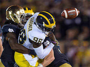 Devin Gardner fumbled once and threw three INTs.