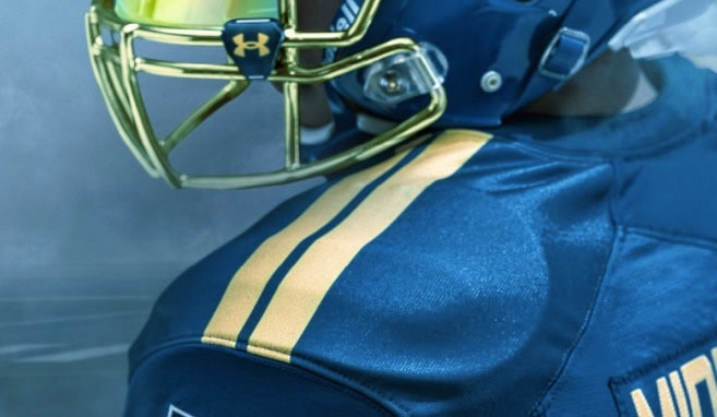 7d2bfa79c Navy unveiled Blue Angels-inspired uniforms for this year s Army-Navy game.