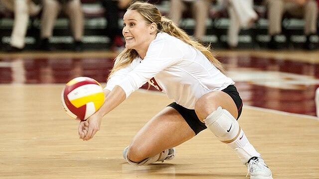USC senior libero Natalie Hagglund