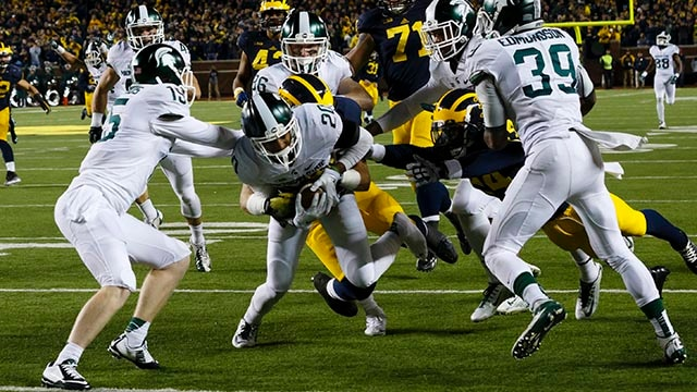 Michigan State Beats Michigan On Last Second Fumble Recovery